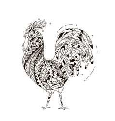 rooster inspired entangle style vector image