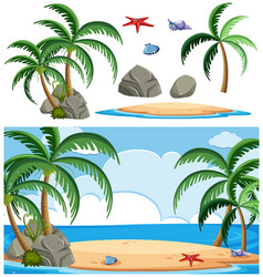set island element vector image