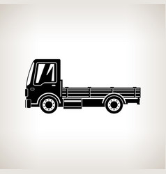 silhouette mini lorry without load isolated vector image