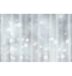 Silver bokeh holiday Christmas lights vector