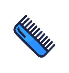 simple outline doodle parting hair comb icon vector image