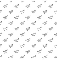 simple paper airplane seamless pattern with vector image