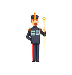 Soldier musical conductor with vestibule member vector