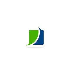 Square curve colored logo vector