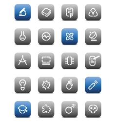 Stencil matt buttons for science vector