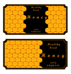 the set honey vector image