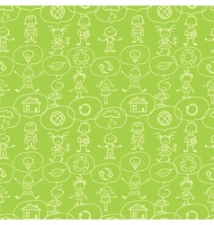 Think about earth seamless pattern background vector