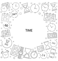 time pattern time background with world vector image