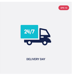 Two color delivery day icon from delivery and vector