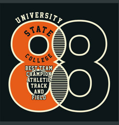 university state college vector image