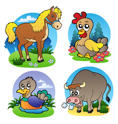 Various farm animals 2 vector
