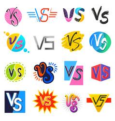 vs versus lettering symbol v s in explosion vector image