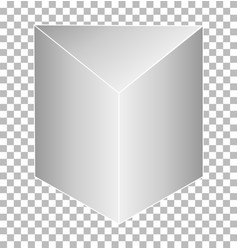 White triangular prism isolated on transparent vector