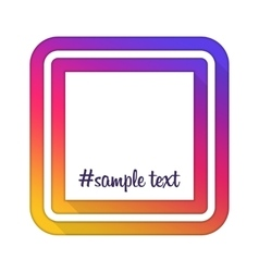 With hashtag frame vector