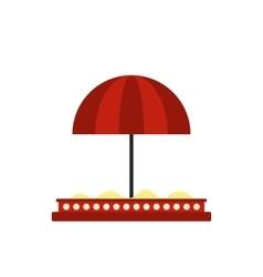 Children sandbox with red umbrella icon vector image vector image