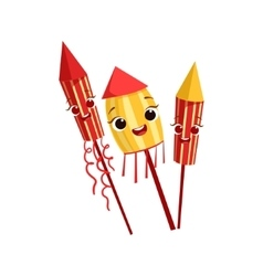 Fireworks kids birthday party happy smiling vector