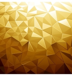 Golden Color Low Poly vector image vector image