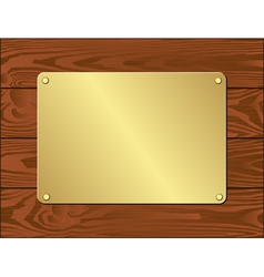 goldenl plate vector image vector image
