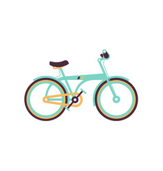 light blue bike modern bicycle vector image vector image