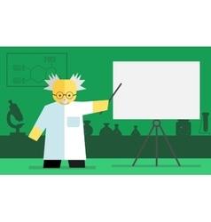 chemistry teacher vector image