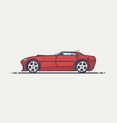 fictional sport car vector image vector image