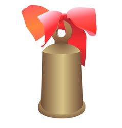 hand bell with a bow vector image