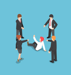 isometric business people pointing the finger to vector image
