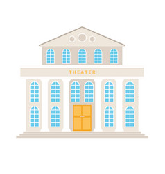theatre building with columns vector image
