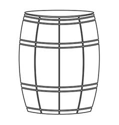 wine or beer barrels black color path icon vector image
