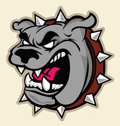 Angry bulldog head vector