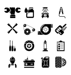Auto repair icons set simple style vector