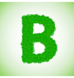 grass letter B vector image vector image