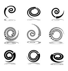 Helix design elements vector image vector image