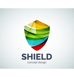 Shield logo business branding icon vector image