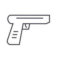 gun line icon sign on vector image