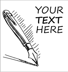 Ink pen with sample text vector image