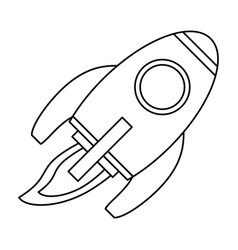 rocket space travel line vector image vector image