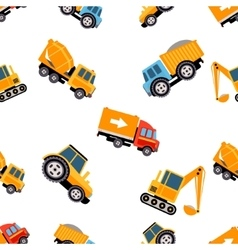 Work Trucks Seamless Pattern vector image