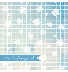abstract background of rectangles and white flower vector image