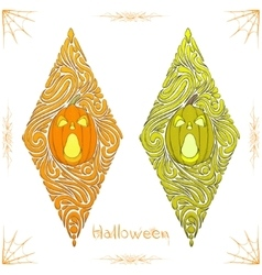 Abstract Pattern Pumpkin One vector image