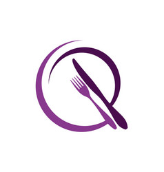 abstract restaurant logo icon design vector image