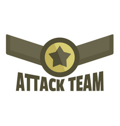 Attack team icon logo flat style vector