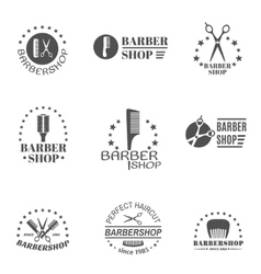 Barber Shop Label Set vector image