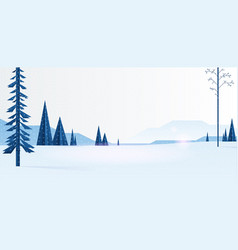 beautiful christmas winter flat landscape vector image