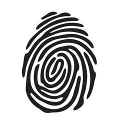 black fingerprint shape vector image
