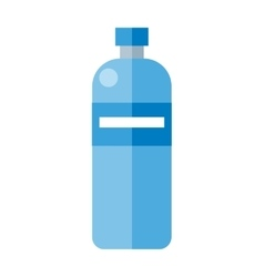 Blue Plastic Bottle vector image