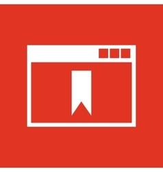 Bookmark browser icon design Bookmark vector