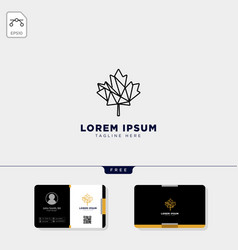cannabis logo template and free business card vector image