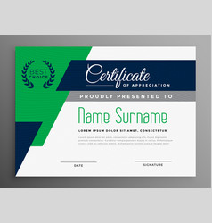 Certificate template with modern geometric shapes vector