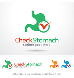 check stomach logo template vector image